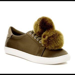 Cash Satin Faux Fur Sneaker
